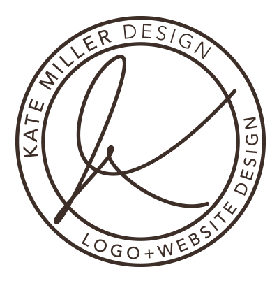 Kate Miller Design - dark logo outline