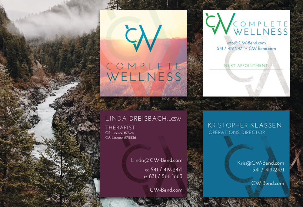 Complete Wellness brand business cards